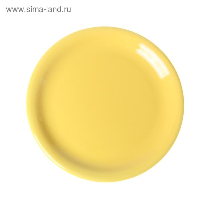 Тарелка десертная d=19 см, цвет желтый