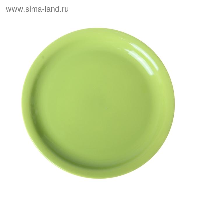 Тарелка подстановочная d=23 см, цвет зеленый