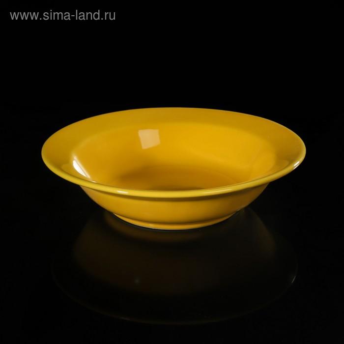 Салатник d=16 см, цвет желтый