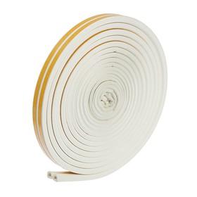 Уплотнитель для окон, профиль D, на клейкой основе, белый, в упаковке 10 м Ош