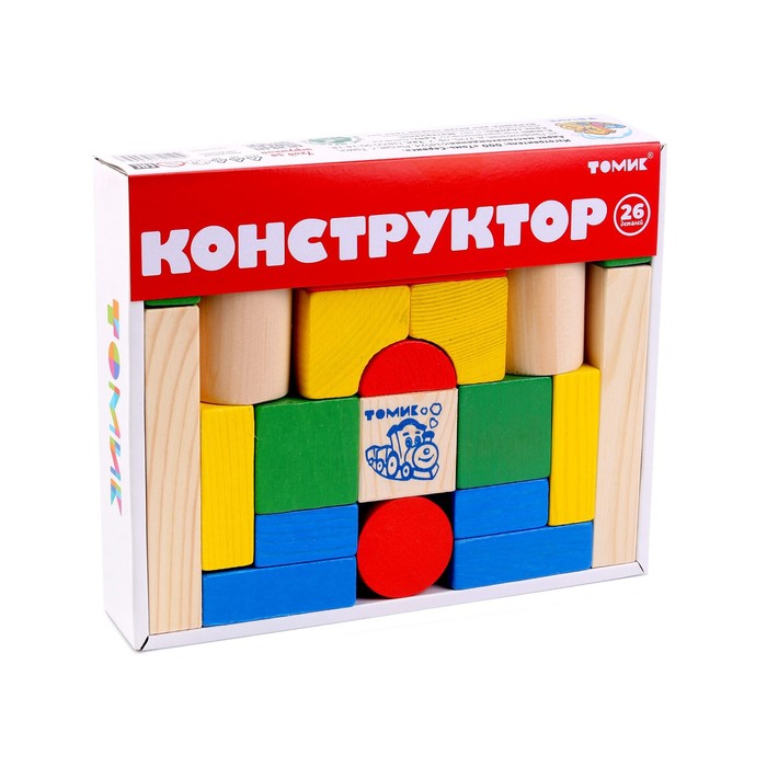 """Конструктор """"Цветной"""", 26 элементов"""