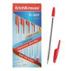 Ручка шариковая Erich Krause R-301 стержень красный, узел 1.0мм, EK 22031