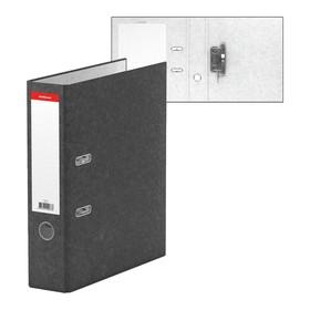 Папка-регистратор А4, 70мм мраморный разборный BASIC, серый, EK 73