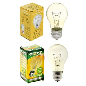 """Лампа накаливания """"Старт"""" Б, Е27, 75 Вт"""