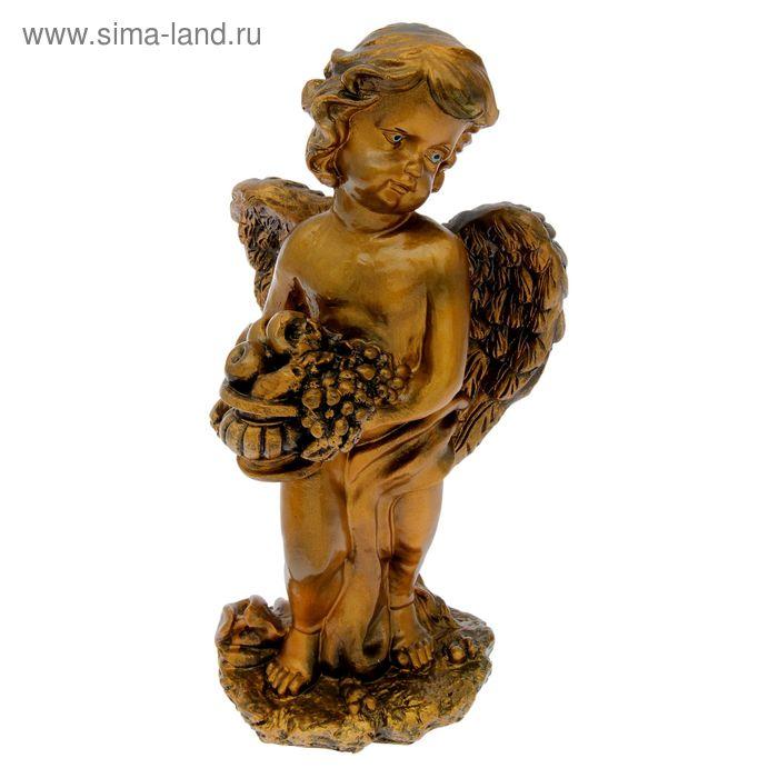 "Статуэтка ""Ангел с фруктами"" бронза"