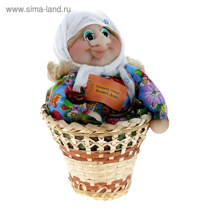 """Оберег """"Домовой"""" в корзинке девочка 28х14 см"""