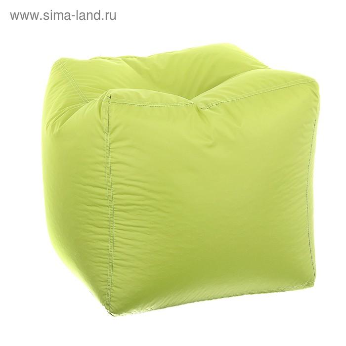 Пуфик-куб, размер 45х45 см, цвет салатовый