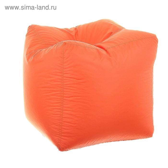 Пуфик-куб, 45х45 см, цвет оранжевый