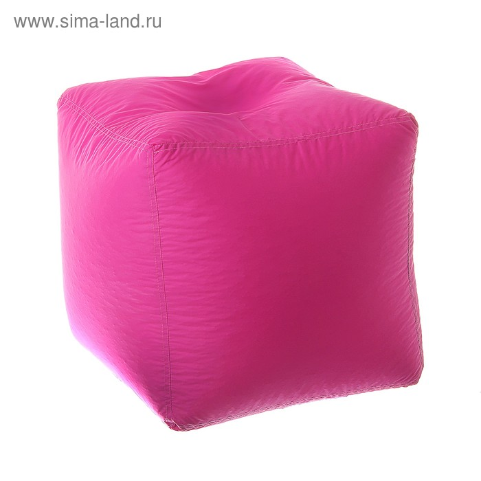 Пуфик-куб, 45х45 см, цвет фуксия