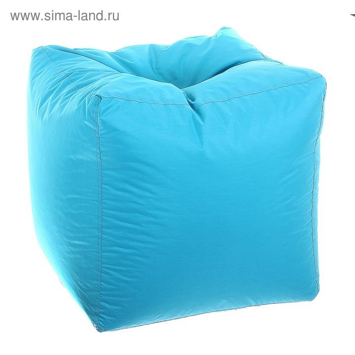 Пуфик-куб, размер 45х45 см, цвет бирюза