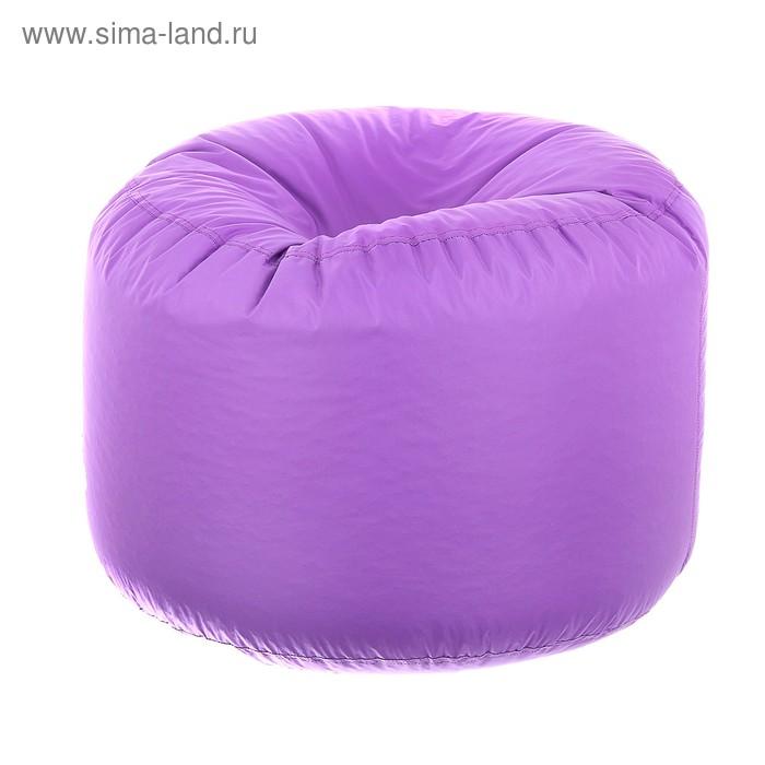 Пуфик круглый, d40см/h60см, цвет фиолетовый