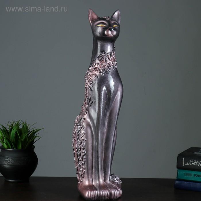 """Сувенир """"Кошка Дарья Египетская"""" орнамент черная, жемчуг"""