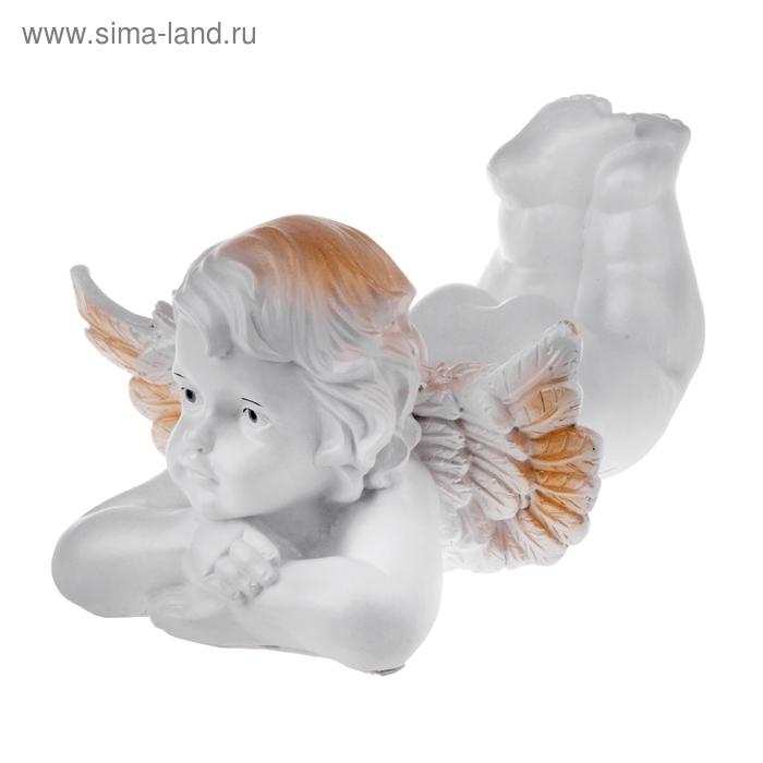 "Статуэтка ""Ангел лежа"" белый, микс"