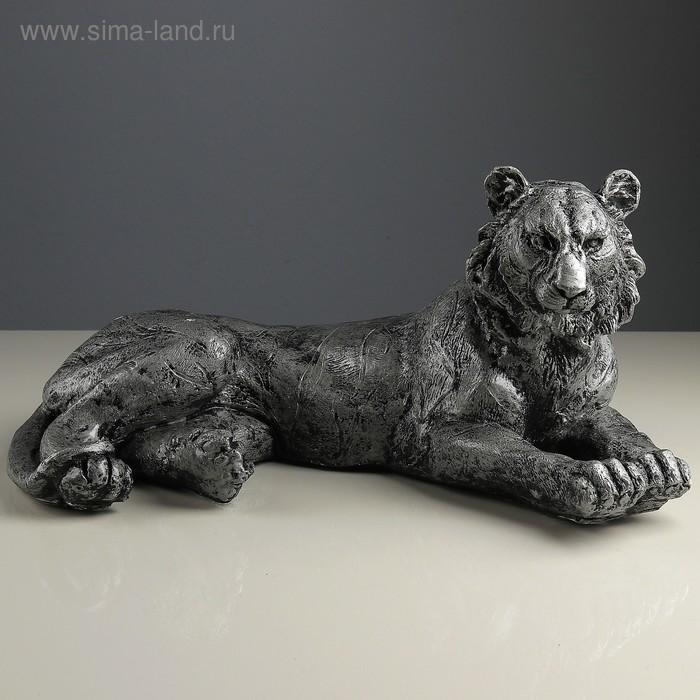 "Статуэтка ""Тигр лежа"" серебро"