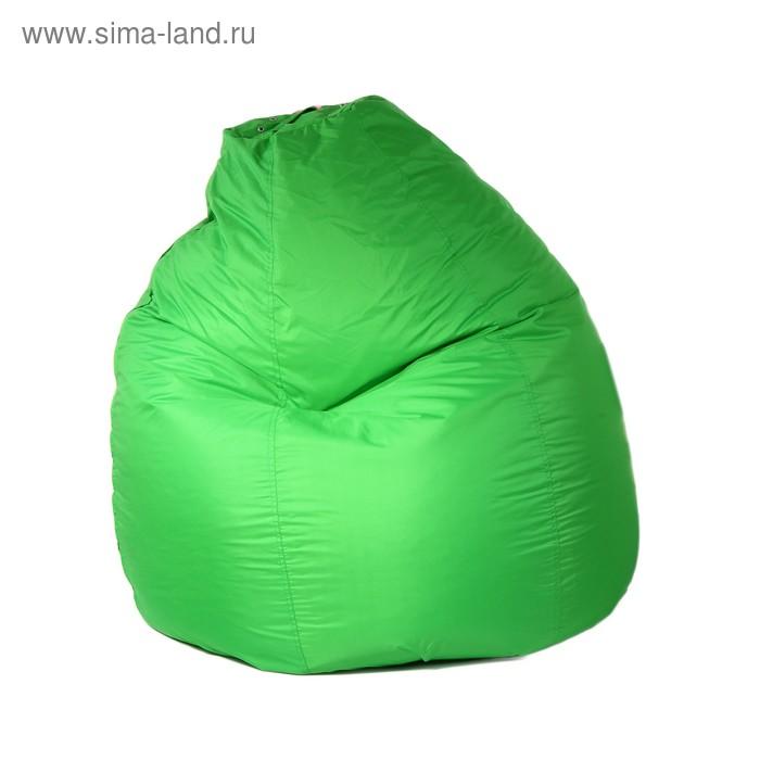 Кресло-мешок универсальный, диаметр 90 см, высота 120 см, цвет салатовый