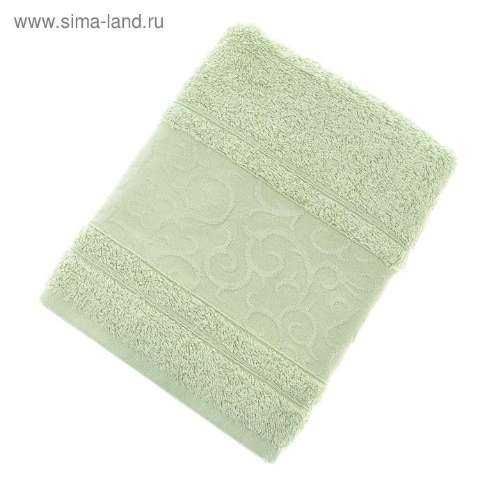 Полотенце махровое Fidan Elegant 50*90см зеленый  500гр/м, бамбук