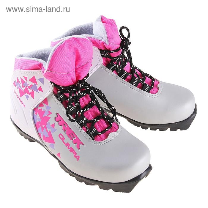 Ботинки лыжные TREK Olimpia NNN ИК, размер 36, цвет: серебристый
