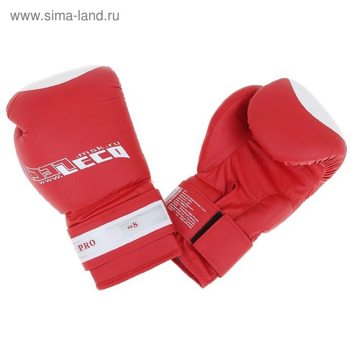 Перчатки боксерские, 8 унций, цвет красный