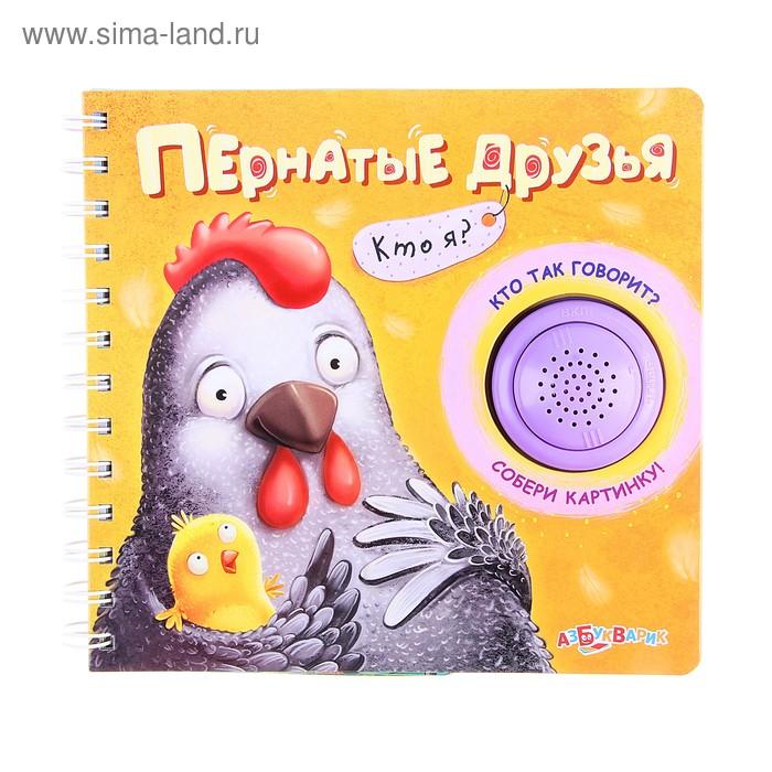 """Книга """"Пернатые друзья"""" Кто я?, музыкальная 14стр."""