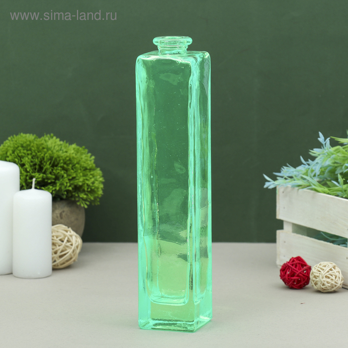 "Ваза ""Нарцисс"" тёмно-зелёная, прозрачная 0,45 л"
