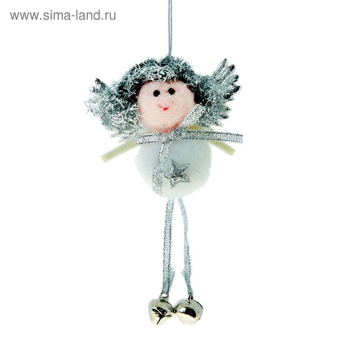"""Мягкая ёлочная игрушка """"Белый ангелок"""""""