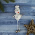"""Мягкая ёлочная игрушка """"Белый снеговичок"""""""