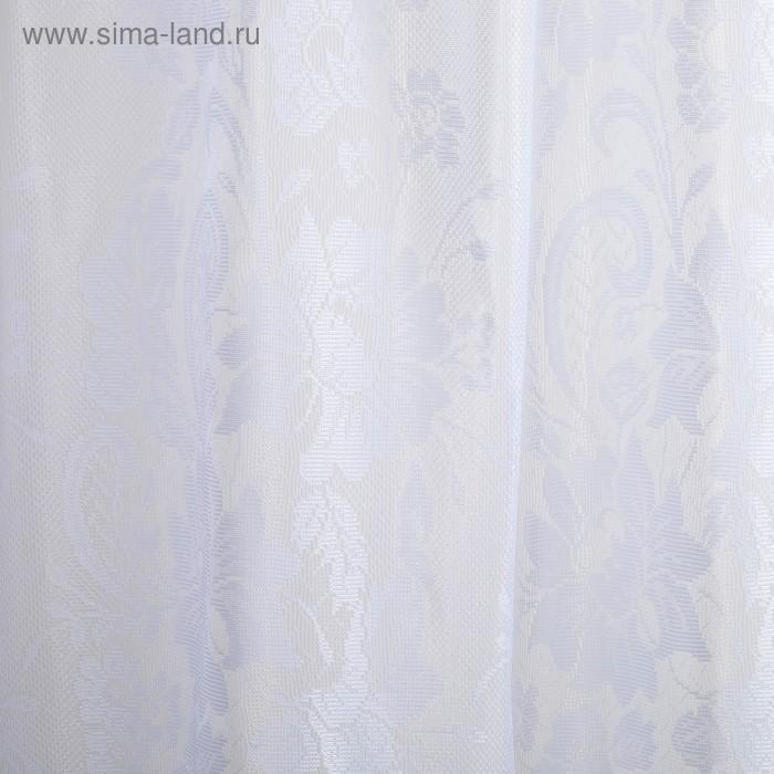 Штора для кухни Афродита белый 150*200 см, 100% п/э