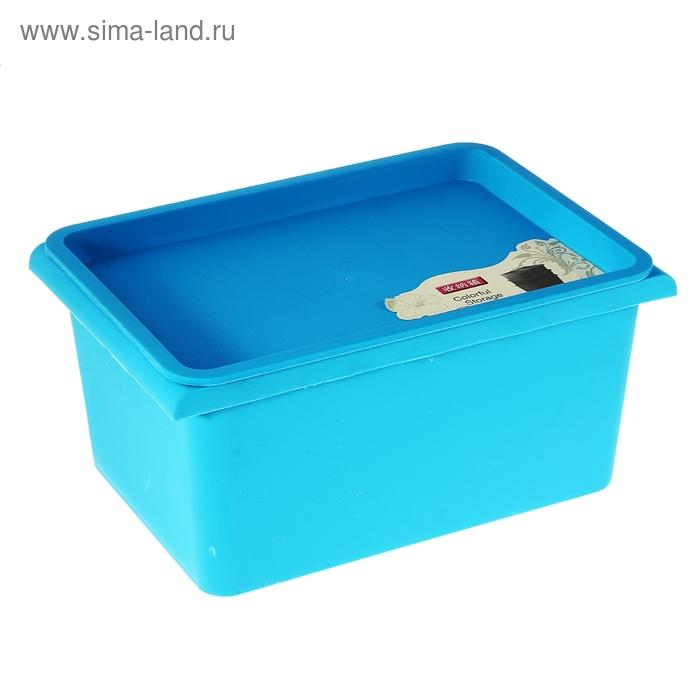"Контейнер для хранения 27х18,5х15 см ""Ореол"", цвет голубой"