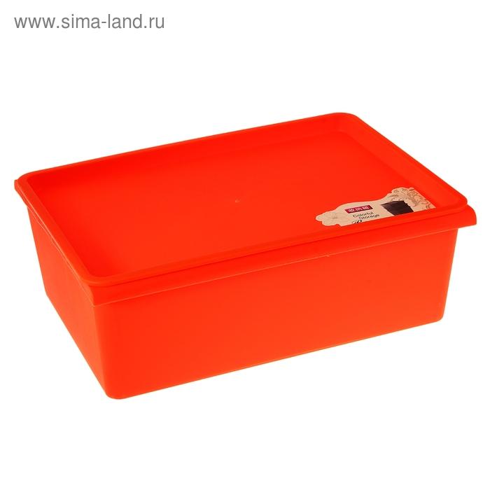 Контейнер для хранения 38х27х13 см, оранжевый
