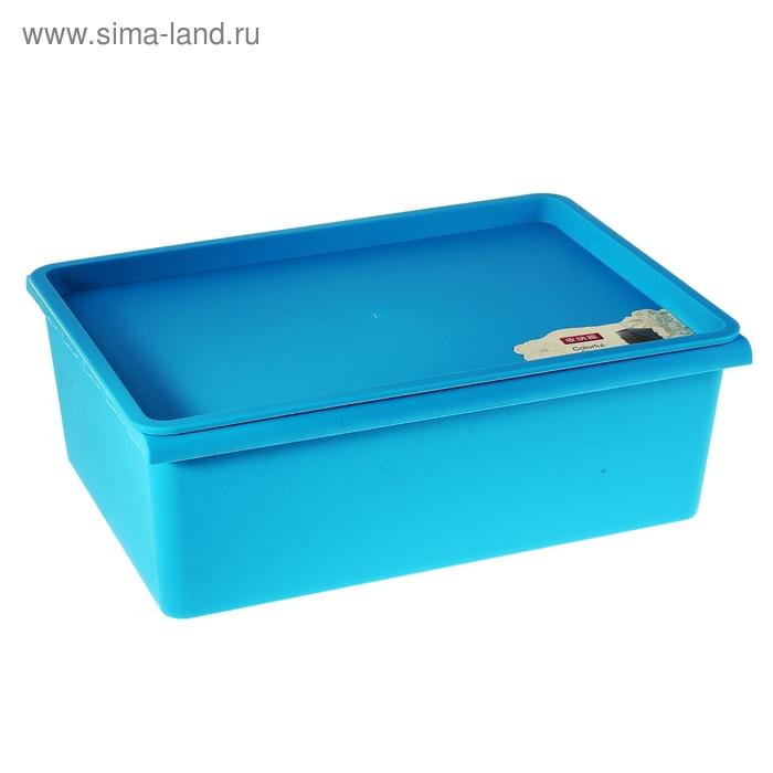 Контейнер для хранения 38х27х13 см, синий