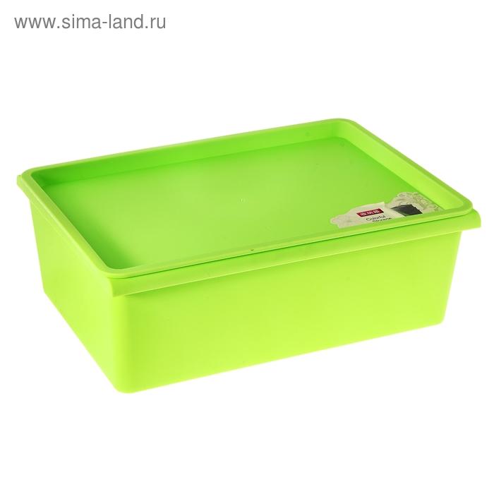 Контейнер для хранения 38х27х13 см, зеленый