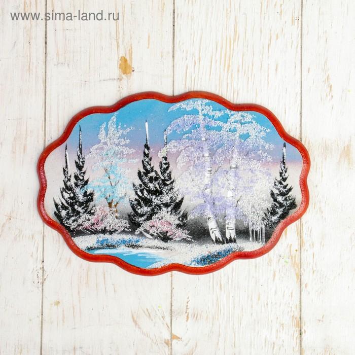 """Картина """"Природа"""", из каменной крошки на фанере, МИКС"""