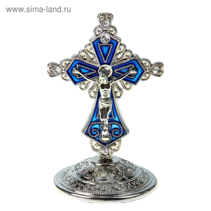 """Крест на подставке """"Торжественный"""", серебристый цвет"""