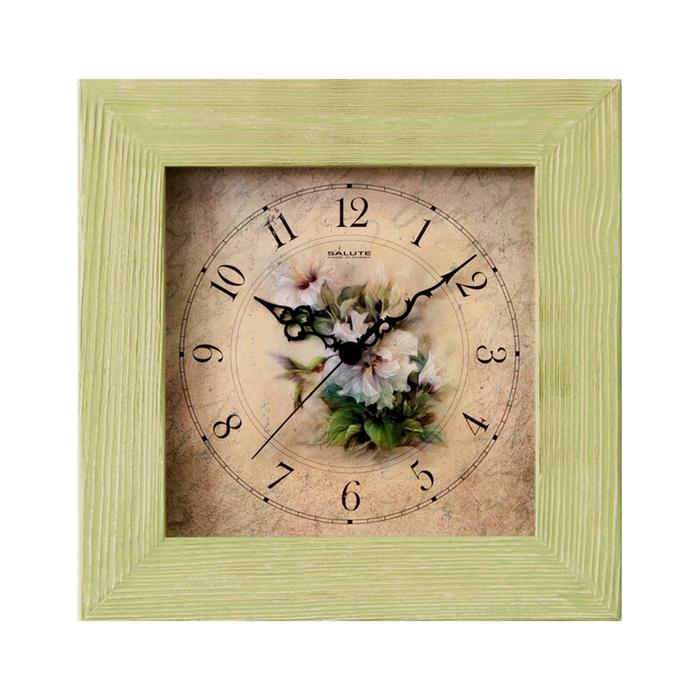 """Часы настенные квадратные """"Шебби шик"""", деревянные"""