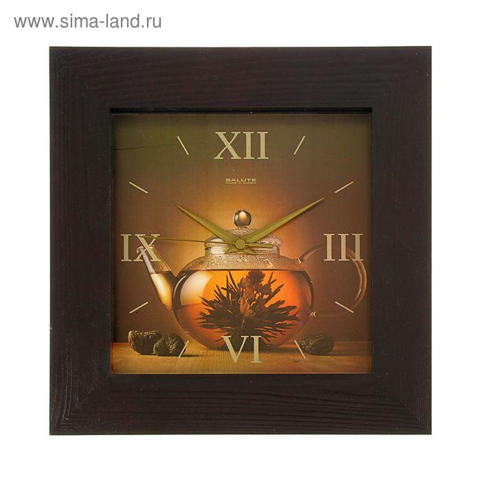"""Часы настенные квадратные """"Чайничек"""", деревянные"""