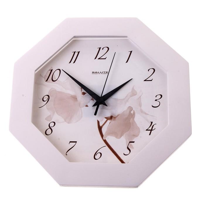 """Часы настенные """"Цветок"""", деревянные, белые"""