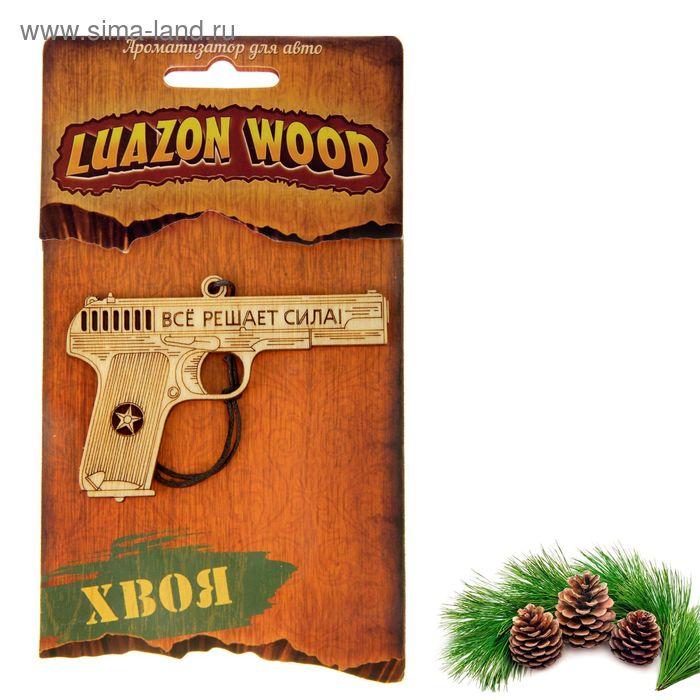 """Ароматизатор для авто Luazon Wood """"Все решает сила"""", аромат хвойный лес"""