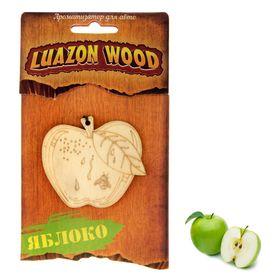 Ароматизатор для авто Luazon Wood 'Яблоко', аромат зеленое яблоко Ош