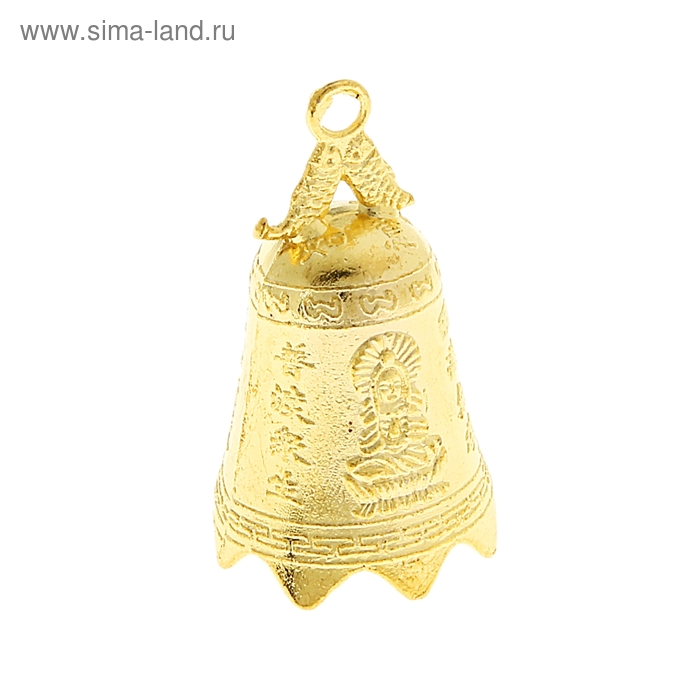 Колокольчик фэн-шуй под золото