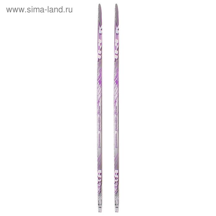 Лыжи пластиковые TREK Delta (Step, 195 см, цвет: розовый)
