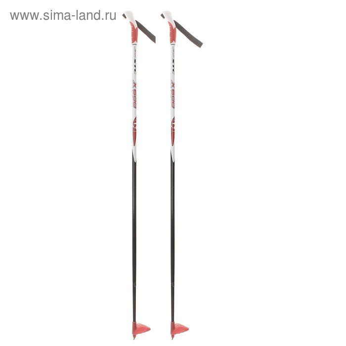 Палки лыжные стеклопластиковые БРЕНД ЦСТ, р. 125см, цвета МИКС