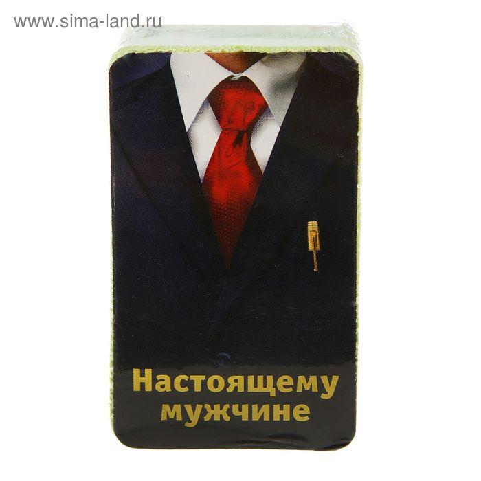 "Полотенце прессованное Collorista ""Настоящему мужчине"", размер 28 х 60 см, цвет микс"