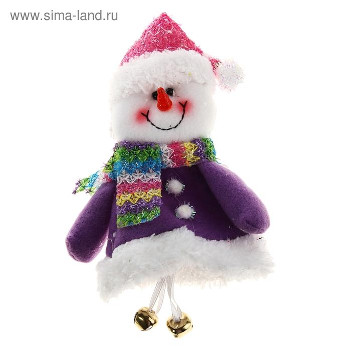 """Мягкая игрушка """"Снеговик"""" цветной шарфик"""