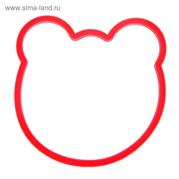 """Форма для яичницы и блинов 12х12 см """"Мишутка"""", цвета МИКС"""
