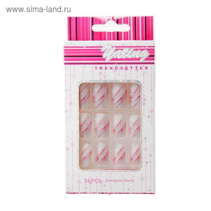 """Ногти накладные """"Розовый фламинго"""" с клеем, 24 шт"""