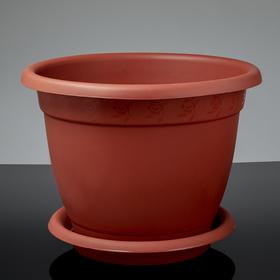 """Горшок для цветов d=43 см """"Борнео"""" 25,8 л, с подставкой, цвет терракотовый"""