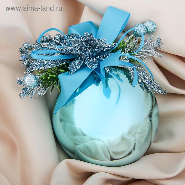 "Новогодний декорированный шар ""Новогодний цветок"""