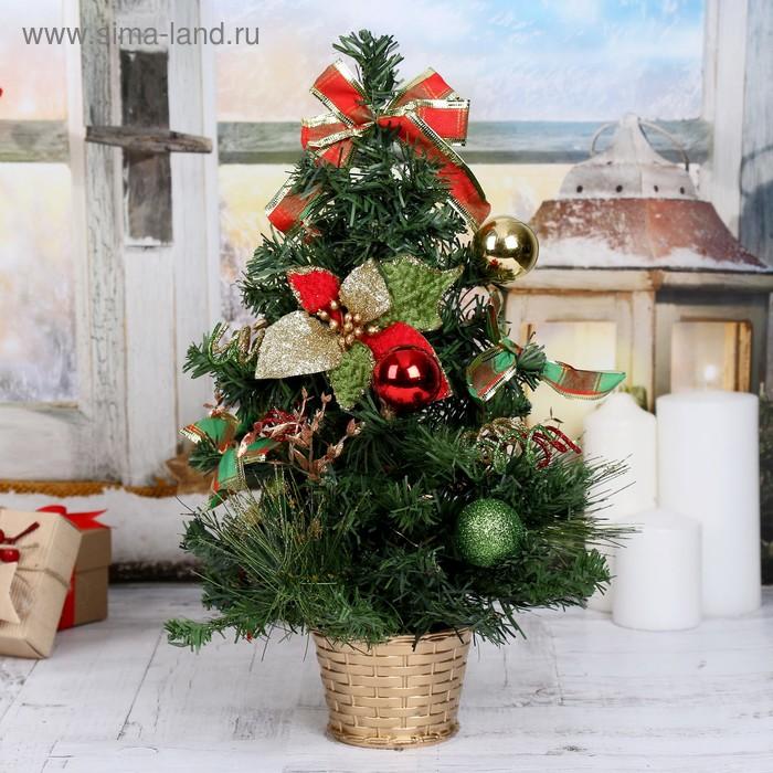 """Ёлка декорированная """"Новогодние листочки"""""""