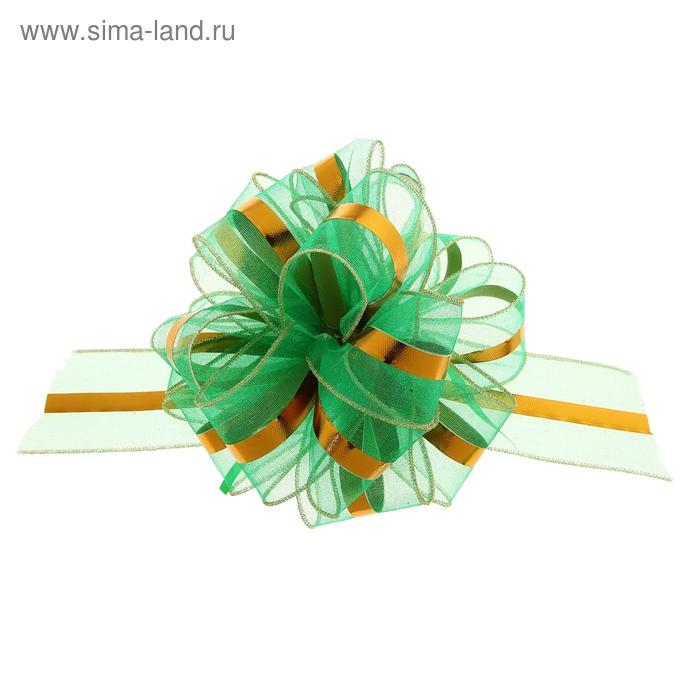 """Бант-бабочка №6 """"Эксклюзив"""", цвет зелёный"""