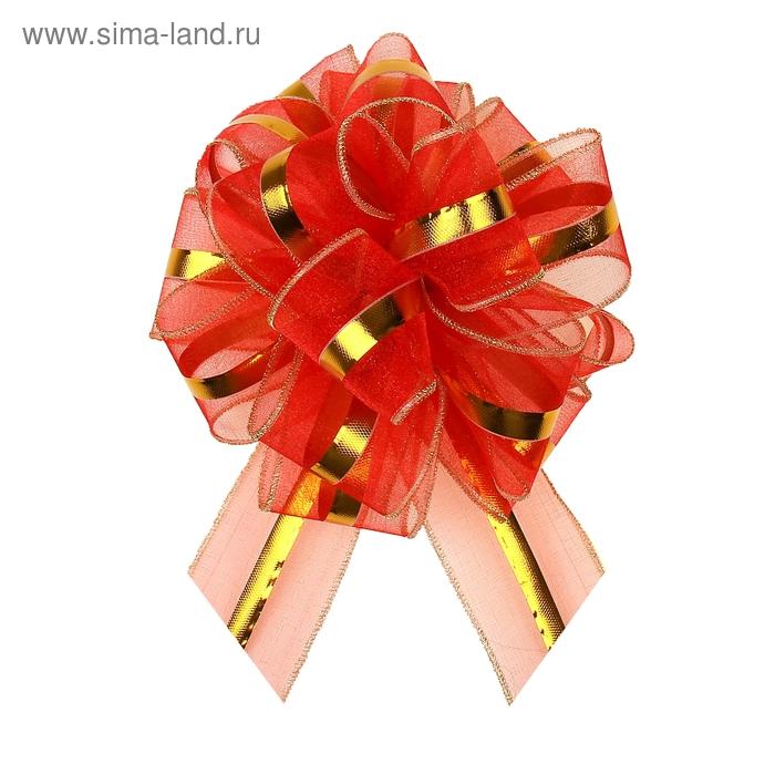 """Бант-бабочка №6 """"Эксклюзив"""", цвет красный"""